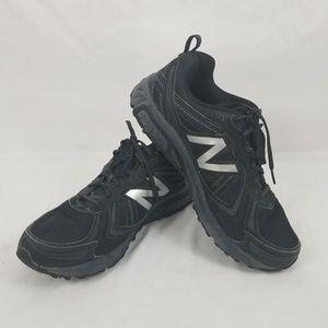 NEW BALANCE SIZE 12 BLACK GRAY TRAIL RUNNING SHOE